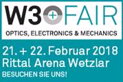 W3+FAIR - Innovativer Branchentreff für Optik, Mechanik und Elektronik